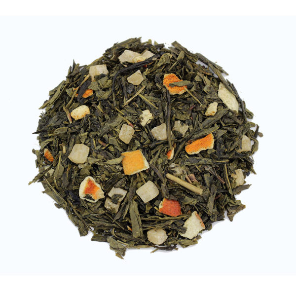 The Tea Embassy - Tee aus Hamburg - Grüner Tee - Aromatee - aromatisch - Sencha Pineapple Orange
